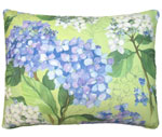 Hydrangea Bunches Outdoor Pillow