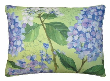Hydrangea w/Leaves Outdoor Pillow - Click to enlarge