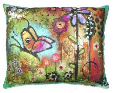 Impressions of Nature: Butterfly Outdoor Pillow - Click to enlarge