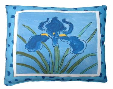 Iris Blue Outdoor Pillow - Click to enlarge