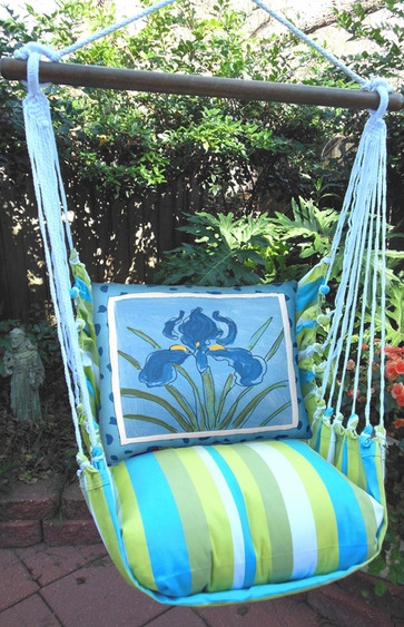 Beach Boulevard Iris Hammock Chair Swing Set - Click to enlarge
