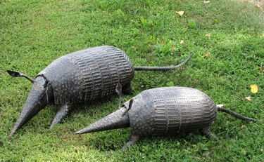 Iron Armadillos Garden Decor  (Set of 2) - Click to enlarge