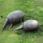 Iron Armadillos Garden Decor  (Set of 2)