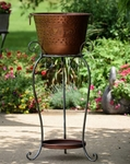 Iron Beer &  Wine Ice Bucket Stand