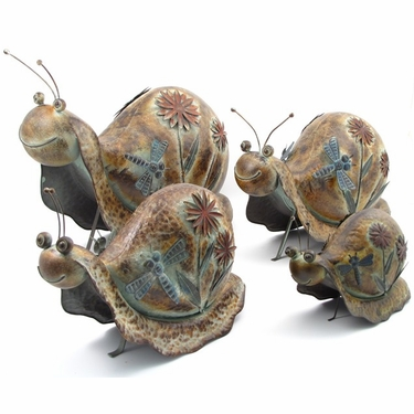 Iron Garden Snails (Set of 4) - Click to enlarge