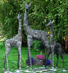 Iron Giraffes Garden Decor (Set of 3)