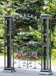 "Iron Halloween ""Cemetery"" Gate w/Spooky Arch"