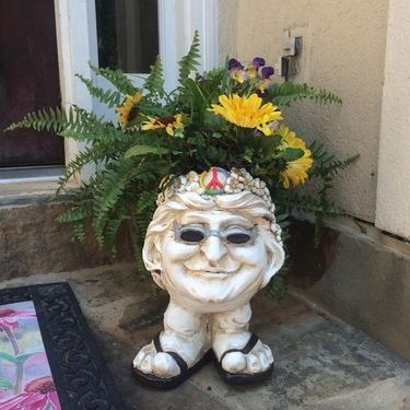 Janice Face Planter - Antique Finish - Click to enlarge