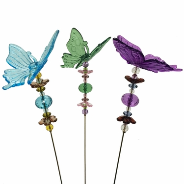 Valentine's Butterfly Stakes (Set of 6) - Click to enlarge