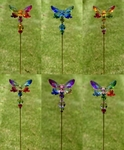 """22"""" Butterfly 5-Tone Pot Stakes (Set of 6)"""