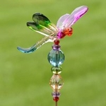 "22"" Dragonfly 5-Tone Pot Stakes (Set of 6)"