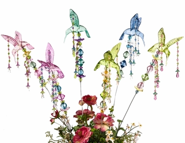 Valentine's Hummingbird Stakes (Set of 6) - Click to enlarge