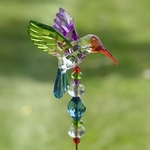 "22"" Hummingbird 5-Tone Pot Stakes (Set of 6)"