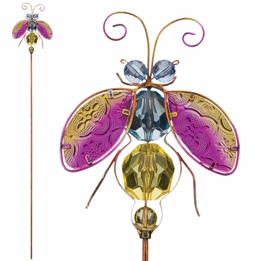 Jeweled Ladybug Stakes (Set of 6) - Click to enlarge