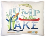 Jump in the Lake Outdoor Pillow