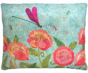 Kaleidoscope Dragonflies Outdoor Pillow - Click to enlarge