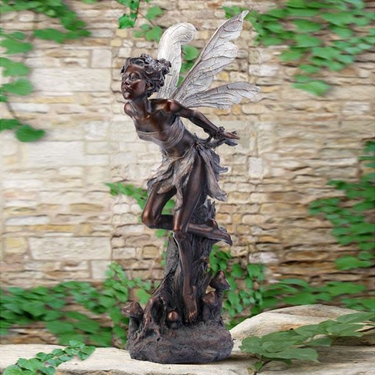 Kissing Fairy - Bronze - Click to enlarge
