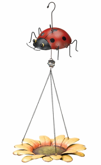 Ladybug Bird Feeder - Click to enlarge
