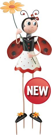 Ladybug Girl Garden Decor - Click to enlarge
