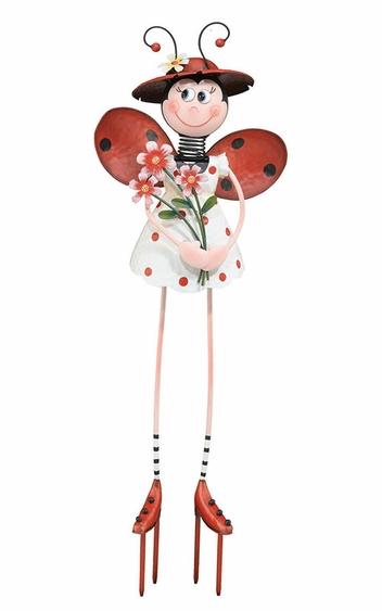 Ladybug Lady Garden Decor - Click to enlarge