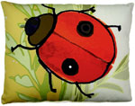Ladybug Outdoor Pillow