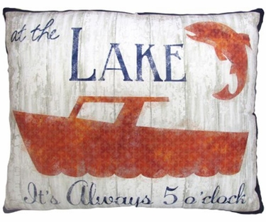 Lake Boating Outdoor Pillow - Click to enlarge