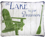 Lake Dreamers Outdoor Pillow
