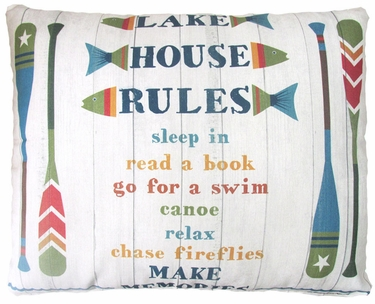 Lake House Rules Outdoor Pillow - Click to enlarge