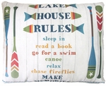 Lake House Rules Outdoor Pillow