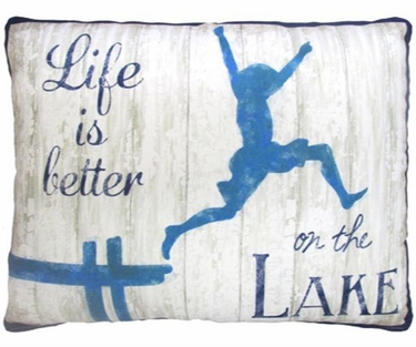 Lake Living Outdoor Pillow - Click to enlarge