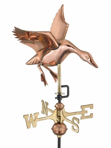 Landing Duck Weathervane - Click to enlarge