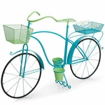 Large Bicycle Planter - Blue/Green