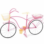 Large Bicycle Planter - Pink/Yellow