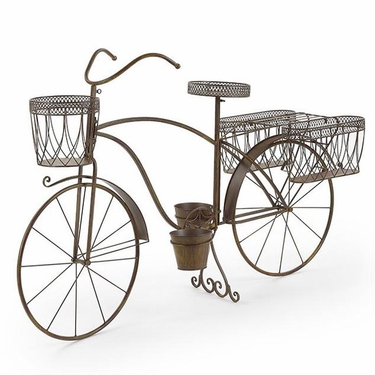 Large Bicycle Planter w/Side Baskets - Click to enlarge