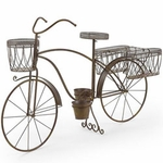 Large Bicycle Planter w/Side Baskets