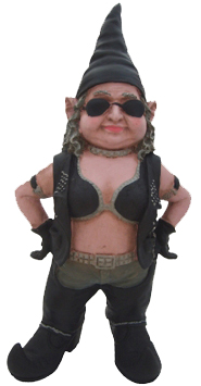 Large Biker Babe Gnome - Click to enlarge