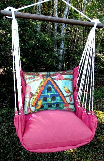 Large Birdhouse Hammock Chair Swing Set - Click to enlarge