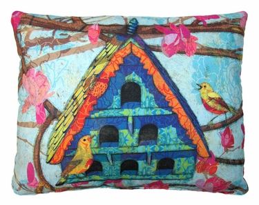 Large Birdhouse Outdoor Pillow - Click to enlarge