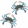 Large Blue Crab Wall Decor (Set of 2)