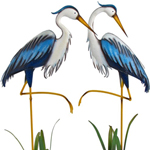 Large Blue Herons (Set of 2)