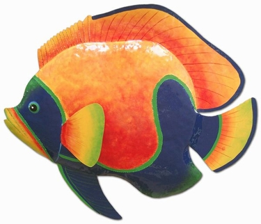 Large Blue Orange Fish Wall Art - Click to enlarge
