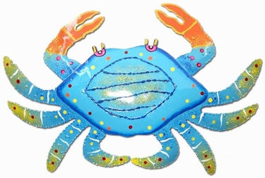 Large Blue Spotted Crab - Click to enlarge