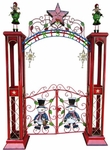 Large Christmas Gate w/Arch & LED Star