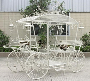 Large Cinderella Carriage Stand - Antique White - Click to enlarge