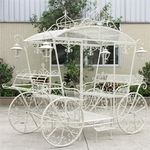 Large Cinderella Carriage Stand - Antique White