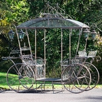 Large Cinderella Carriage Stand - Bronze