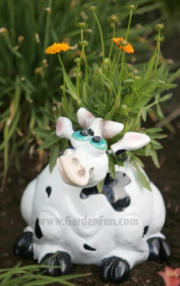 Large Cow Phatzo Planter - Click to enlarge