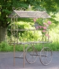 "Large Flower Cart ""Stephania"" - Bronze"
