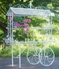 "Large Flower Cart ""Stephania"" - White"