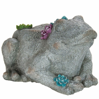 Large Flower Frog Statue - Click to enlarge